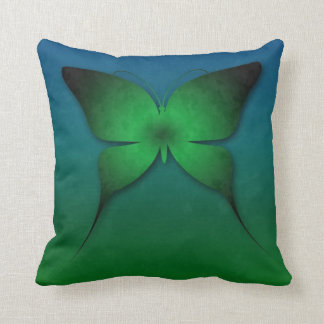 Green Ombre Butterfly Pillow Throw Cushions