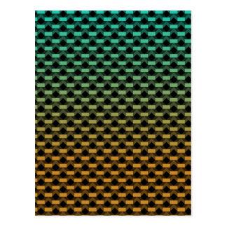 Green Orange Geometric Gradient Postcard