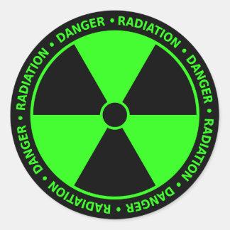 Green Radiation Symbol Sticker