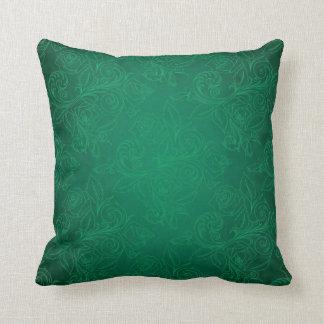 Green Rose Pillow Throw Cushion