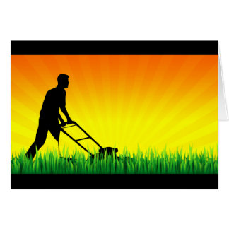 green scene lawn care greeting card