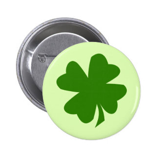 Green shamrock four leaf clover lucky St Patrick's 6 Cm Round Badge