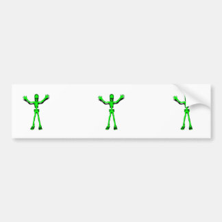 Green Skeleton Bumper Sticker