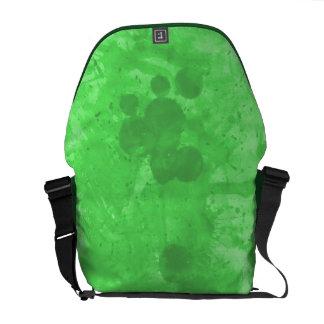 GREEN SPLASH by SHARON SHARPE Messenger Bag
