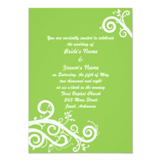 Green Spring 13 Cm X 18 Cm Invitation Card