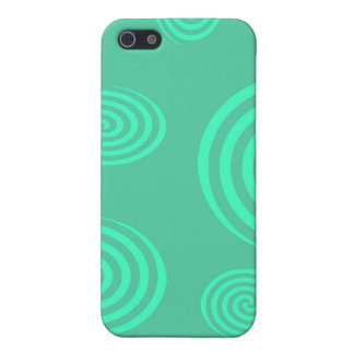 Green Swirls I-pod Touch Case iPhone 5 Case