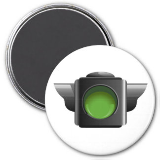 Green Traffic Light for Classroom Management 7.5 Cm Round Magnet