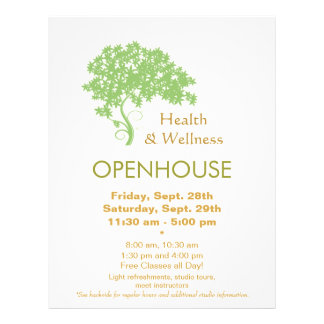 Green Tree Holistic Health and Wellness Nature 21.5 Cm X 28 Cm Flyer