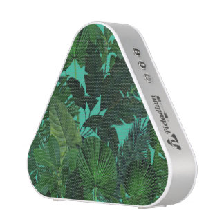 Green Tropical Leaf Pattern Speakers