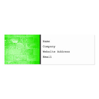 Green Wall. Digital Art. Pack Of Skinny Business Cards