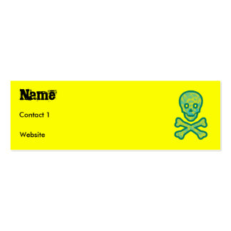 greenskull, Name, Contact 1, Website Pack Of Skinny Business Cards