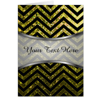 Greeting Card Zig Zag Sparkley Texture