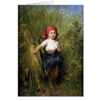 Greetingcard With Heinrich Hirt Painting Greeting Card