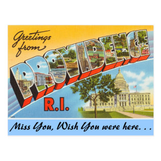 Greetings from Providence Postcard