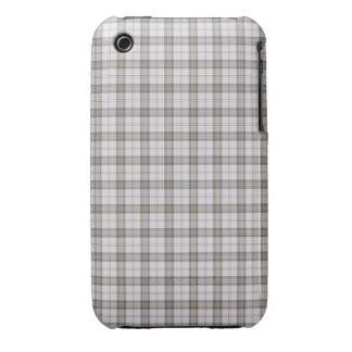 Grey fashion tartan iPhone 3 covers