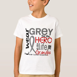 Grey For My Hero 2 Grandpa Brain Cancer Tshirts