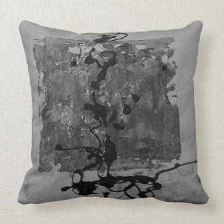 Grey on grey zen inspired pillow throw cushion
