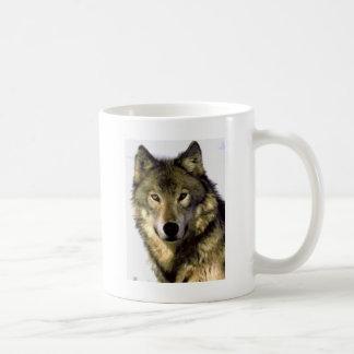 Grey Wolf Basic White Mug