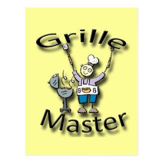 Grille Master black Postcard