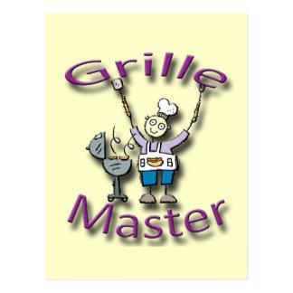 Grille Master violet Postcard