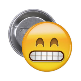 Grinning Face With Smiling Eyes Emoji 6 Cm Round Badge