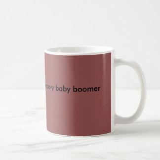 Groovy baby boomer mug