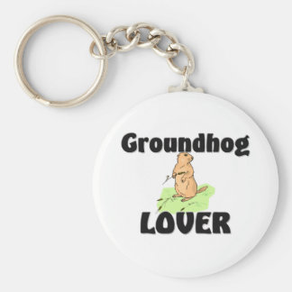 Groundhog Lover Basic Round Button Key Ring