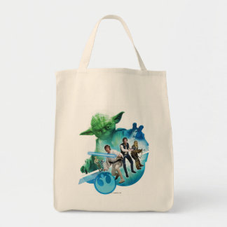 Group Inside Yoda Grocery Tote Bag