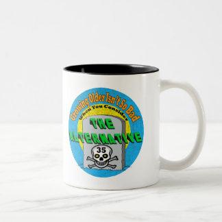 Growing Older 35th Birthday Gifts Two-Tone Mug