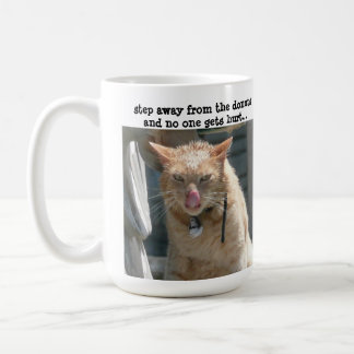 Grumpy Cat, step away from the donuts... Basic White Mug