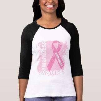Grunge Breast Cancer Awareness T-shirt