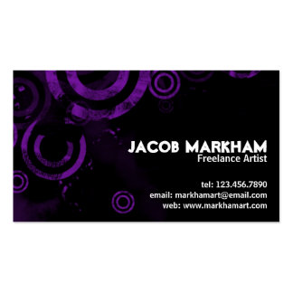 Grunge Circles - Purple Pack Of Standard Business Cards