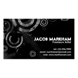 Grunge Circles - White Pack Of Standard Business Cards