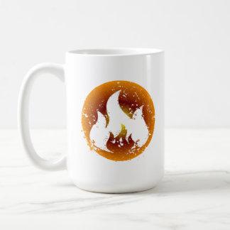 Grunge Flame Basic White Mug