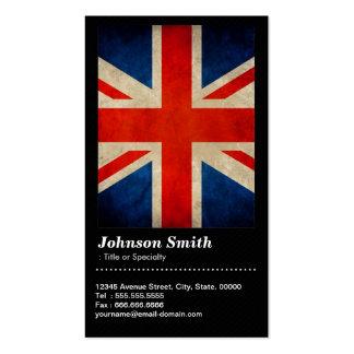 Grunge Great Britain UK Flag Union Jack - QR Code Pack Of Standard Business Cards