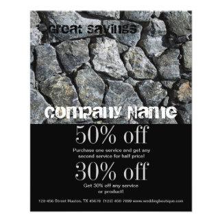 grunge grey stone texture construction business 11.5 cm x 14 cm flyer