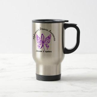 Grunge Tattoo Butterfly 6.1 Alzheimer's Disease Stainless Steel Travel Mug