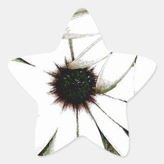 grungy daisys star sticker
