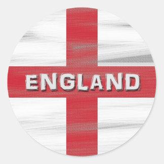 Grungy England Flag Round Sticker