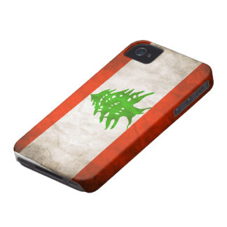 Grungy Lebanon Flag iPhone 4 Cover