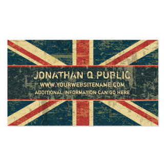 Grungy Union Jack Pack Of Standard Business Cards