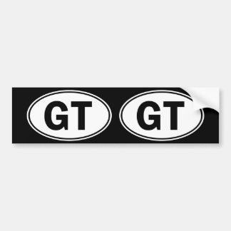 GT Oval Identity Sign Bumper Sticker