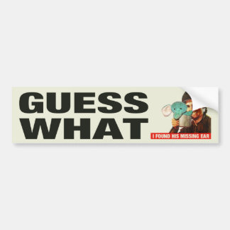 Guess What WWII Poster Bumpersticker (Regretsy) Bumper Sticker