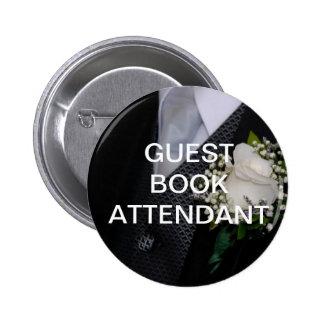 Guest Book Attendant 6 Cm Round Badge
