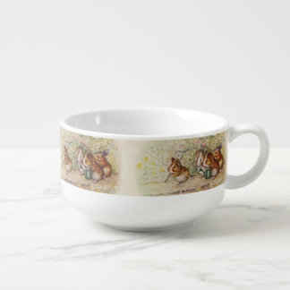 Guinea Pigs in the Garden Planting Seeds Soup Mug