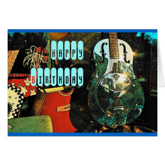 Guitar Birthday Card - Customized