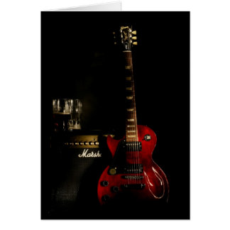 Guitar Birthday Greeting Card or any occasion
