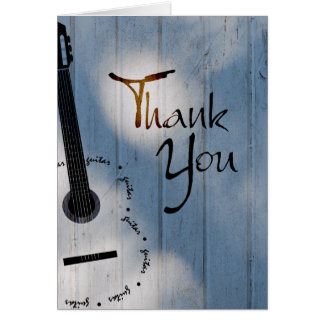 Guitar Thank You Note Note Card