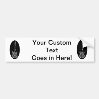 guitar word fill white on black music image.png bumper sticker
