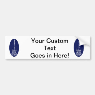 guitar word fill white on blue music image.png bumper sticker